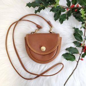 Vtg 90s COACH British Tan Leather Mini Belt Bag